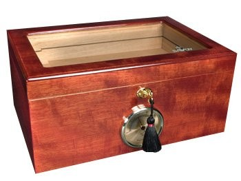 Little Havana Cigar Factory - Savoy Mahogany Glass Top Humidor 50 Cigars