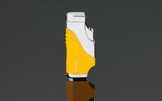Little Havana Cigar Factory - Siglo Triple Flame Cigar Lighter Yellow