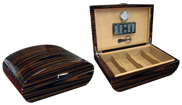 Little Havana Cigar Factory - Prestige Waldorf Ebony Lacquer Humidor