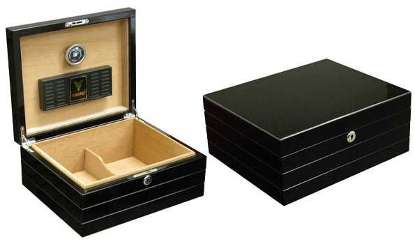 Little Havana Cigar Factory - Prestige Onyx Black Humidor
