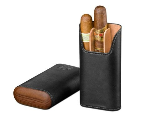 Little Havana Cigar Factory - Brizard and Co. Showband 3 Cigar Case Sunrise Black Rosewood