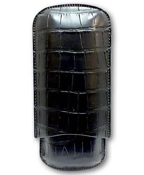 Little Havana Cigar Factory - Tampa Fuego Standard Cigar Case Genuine Alligator Black