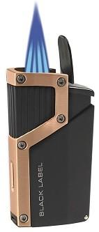 Little Havana Cigar Factory - Lotus Black Label Czar 4-Flame Torch Cigar Lighter Black Copper