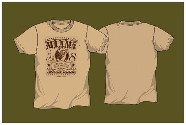 Little Havana Cigar Factory - Beige T-Shirt
