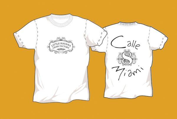 Little Havana Cigar Factory - Calle 8 White T-Shirt