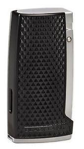 Little Havana Cigar Factory - Lotus Kronos Triple Flame Torch Cigar Lighter Black Chrome