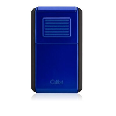 Little Havana Cigar Factory - Colibri Astoria Triple-Flame Cigar Lighter Black Blue
