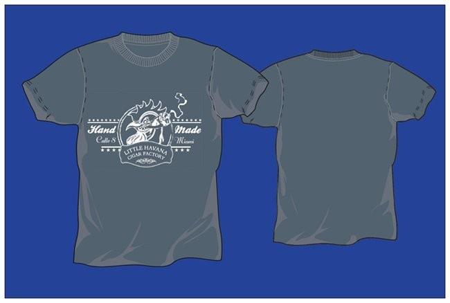 Little Havana Cigar Factory - Dark Blue T-Shirt