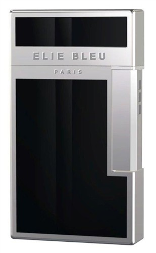 Little Havana Cigar Factory - Elie Bleu J-14 Diamond Covered Jet Flame Lighter Black Lacquer & Palladium
