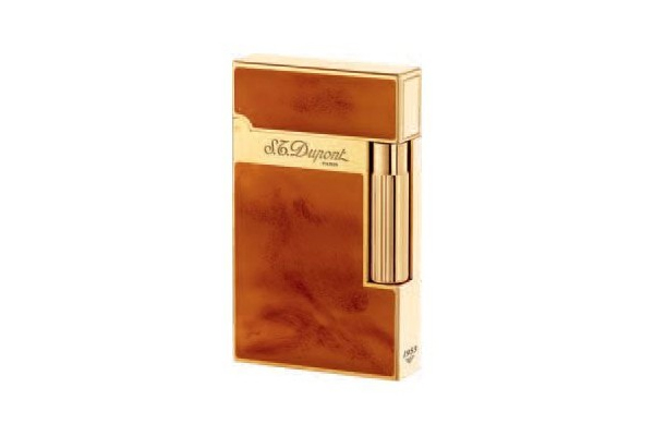 Little Havana Cigar Factory - S.T. Dupont Ligne 2 Lighter Light Brown & Chinese Lacquer Atelier